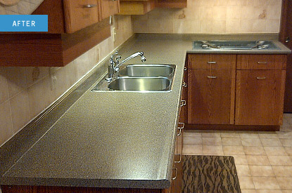 You Might Remember Countertops Like The One On Left They Were All Rage For A Years In 80 S And Really Show Their Age Now