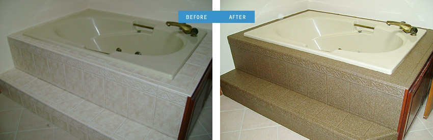 Before and after of bathtub
