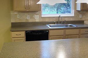 resurfaced kitchen countertop