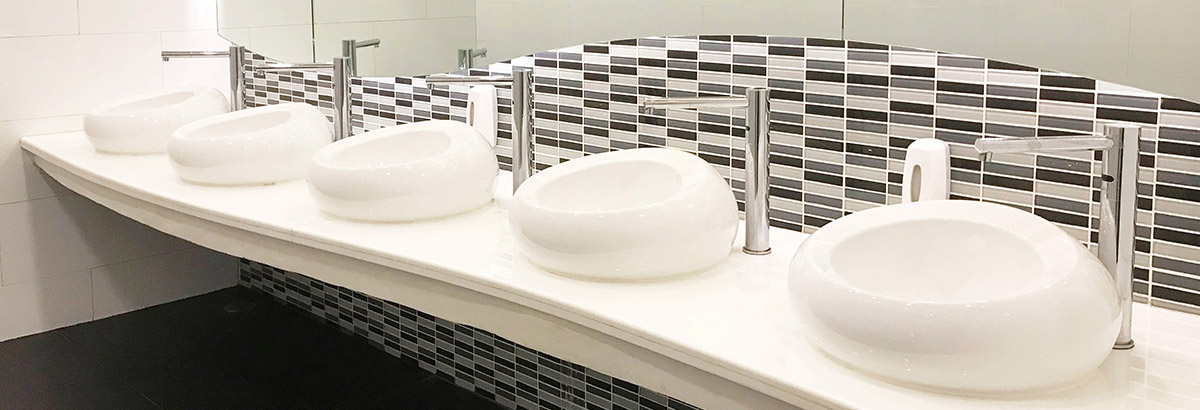 image of commercial bathroom sink